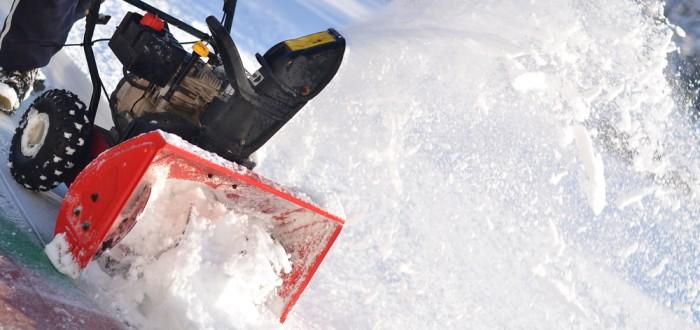 broken snow blower