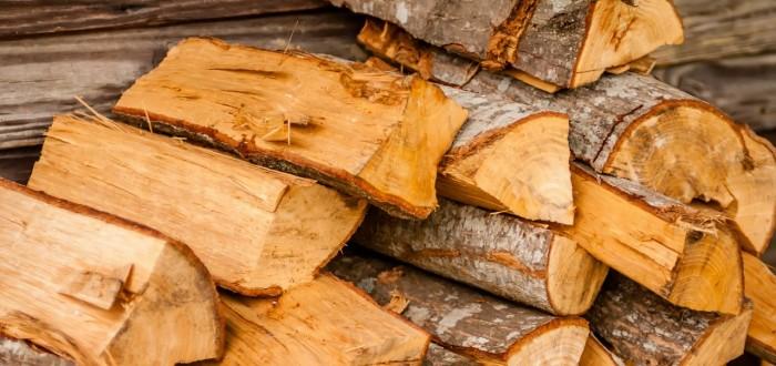 Log Splitter safety tips. image of split wood
