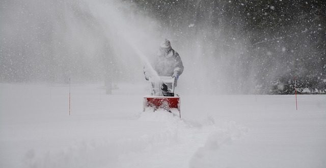 a man clearing snow